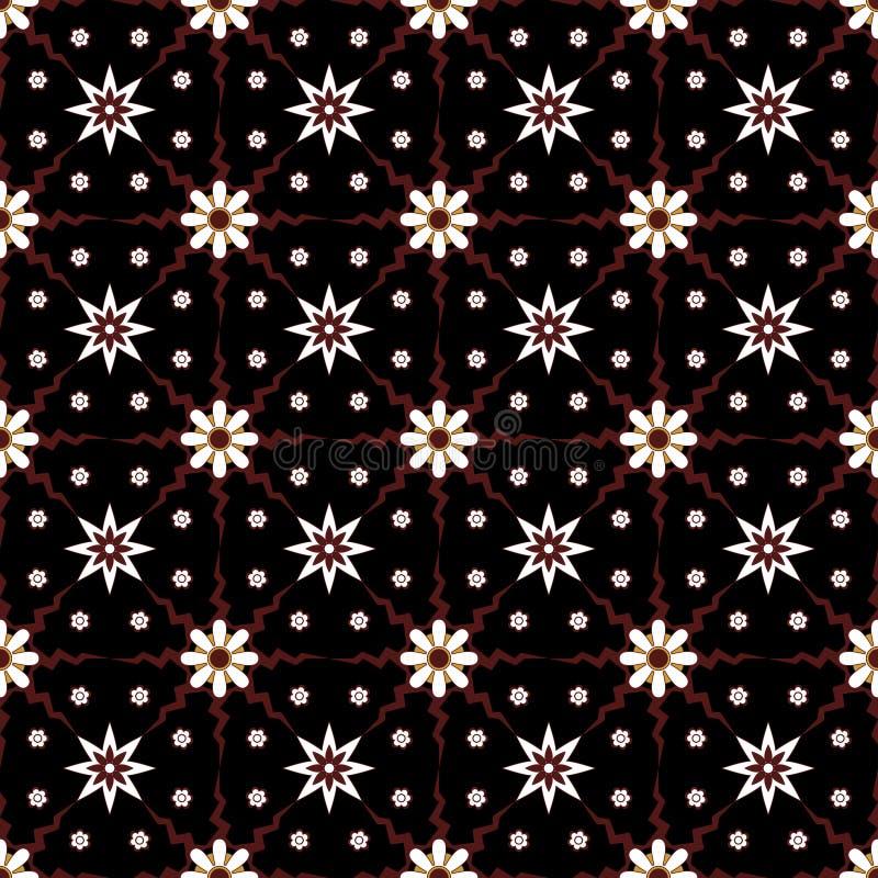 Modelo incons?til geom?trico simple tradicional del fondo del adorno del batik Inspiraci?n elegante del dise?o del vector de la i stock de ilustración