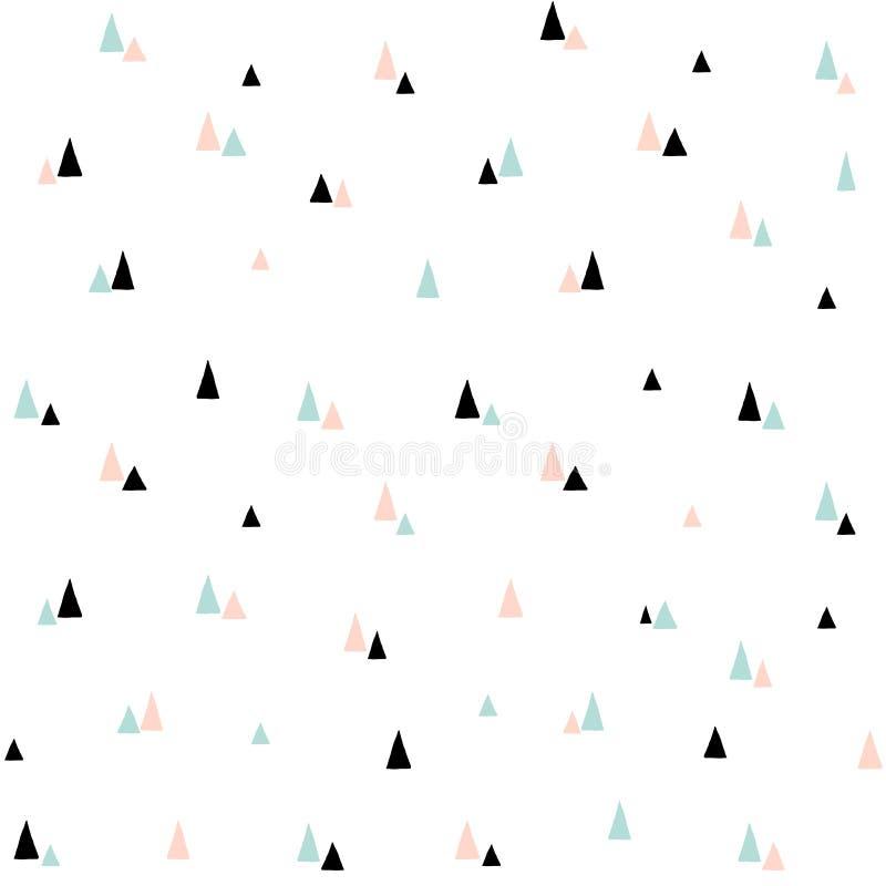 Modelo incons?til lindo del vector Fondo escandinavo mínimo del estilo con los árboles de navidad estilizados Para la materia tex stock de ilustración