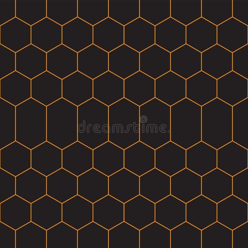 Modelo incons?til Los hexágonos adornan Contexto geométrico de las formas Papel de Digitaces, web que diseña, impresión de la mat stock de ilustración