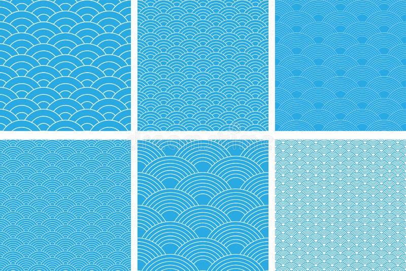 Modelo incons?til Sistema de la onda Textura de las escalas de pescados Ilustraci?n del vector Libro de recuerdos, papel de envol libre illustration