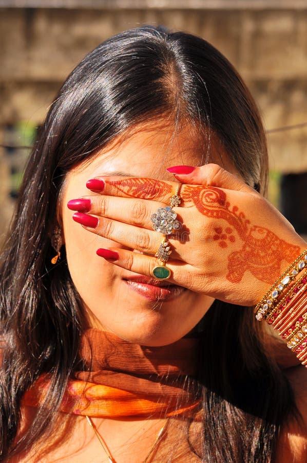 Modelo indiano foto de stock