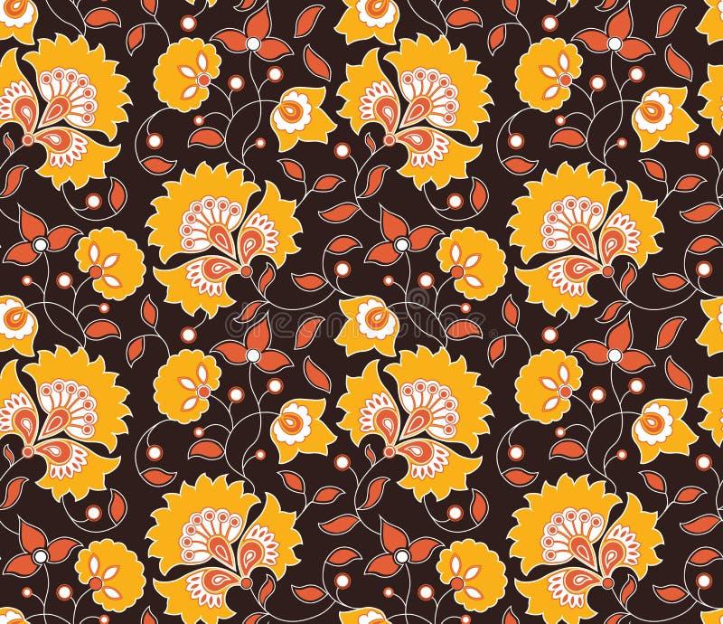 Modelo indio inconsútil del estilo del vector brillante stock de ilustración