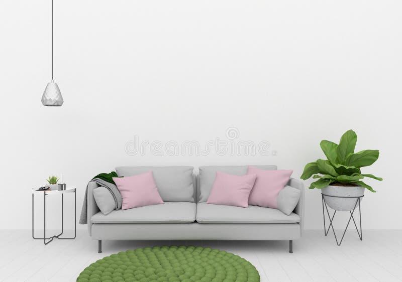 Modelo interior - parede vazia fotografia de stock royalty free