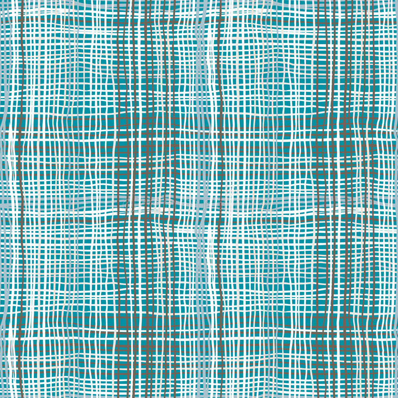 Modelo intrépido de la tela escocesa con pinceladas finas libre illustration