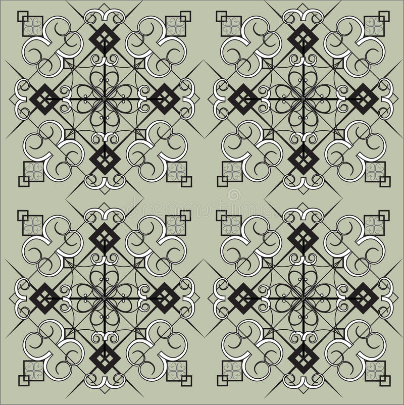 Modelo intrincado del azulejo ilustración del vector