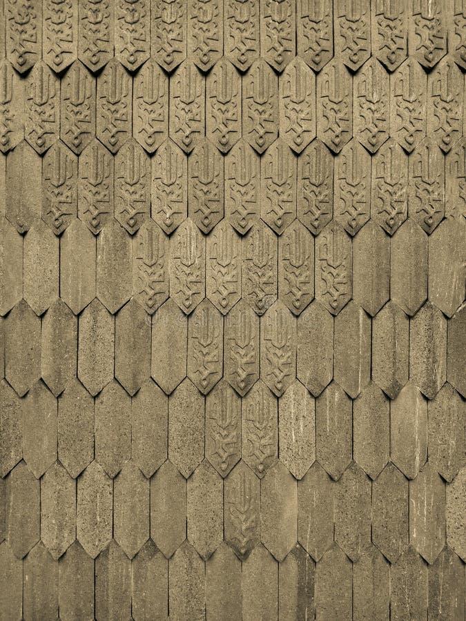 Modelo islámico de la armadura de la teja en la pared como fondo fotografía de archivo