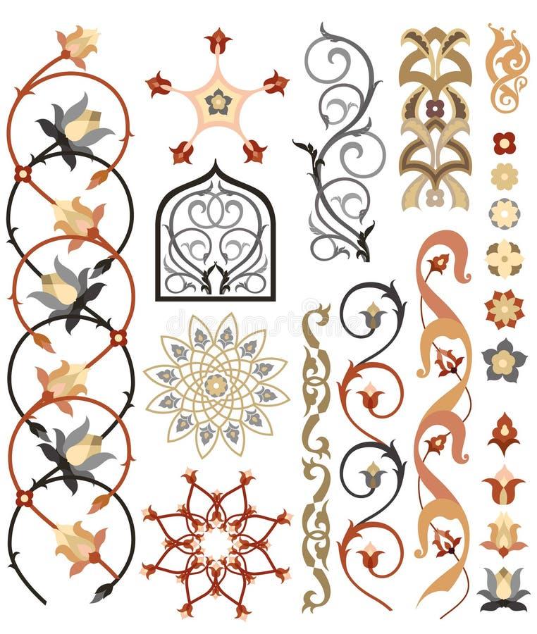 Modelo islámico del arte stock de ilustración