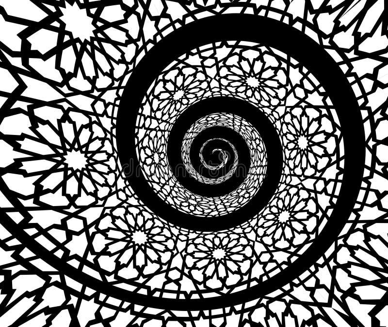 Modelo islámico, remolinado en forma del espiral 3d libre illustration