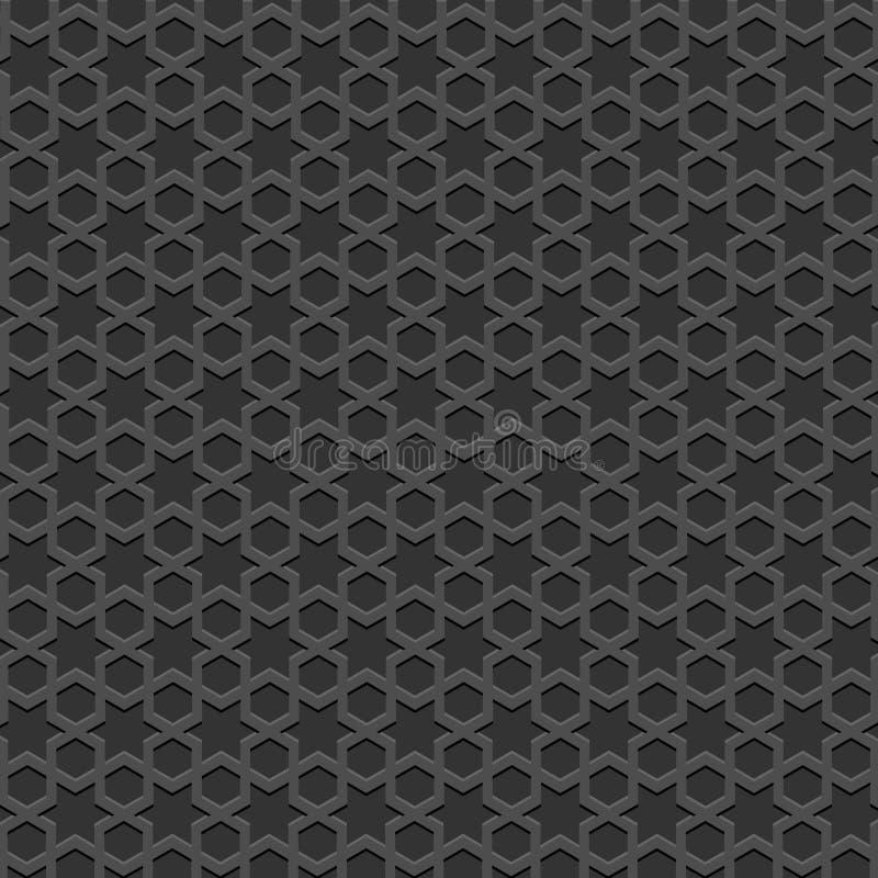 Modelo islámico textured negro stock de ilustración
