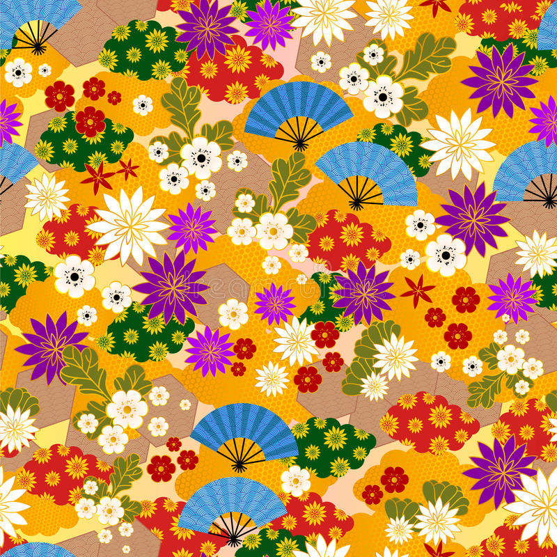 Modelo japonés del kimono ilustración del vector