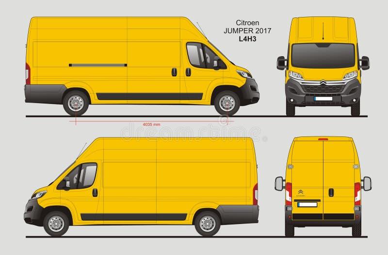 Modelo L4H3 de Citroen Jumper Cargo Van 2017 ilustração stock