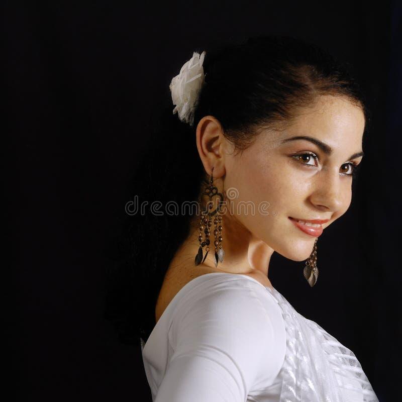 Modelo latino-americano feliz fotos de stock royalty free