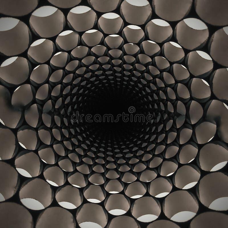 Modelo ligero oval abstracto radial fotos de archivo