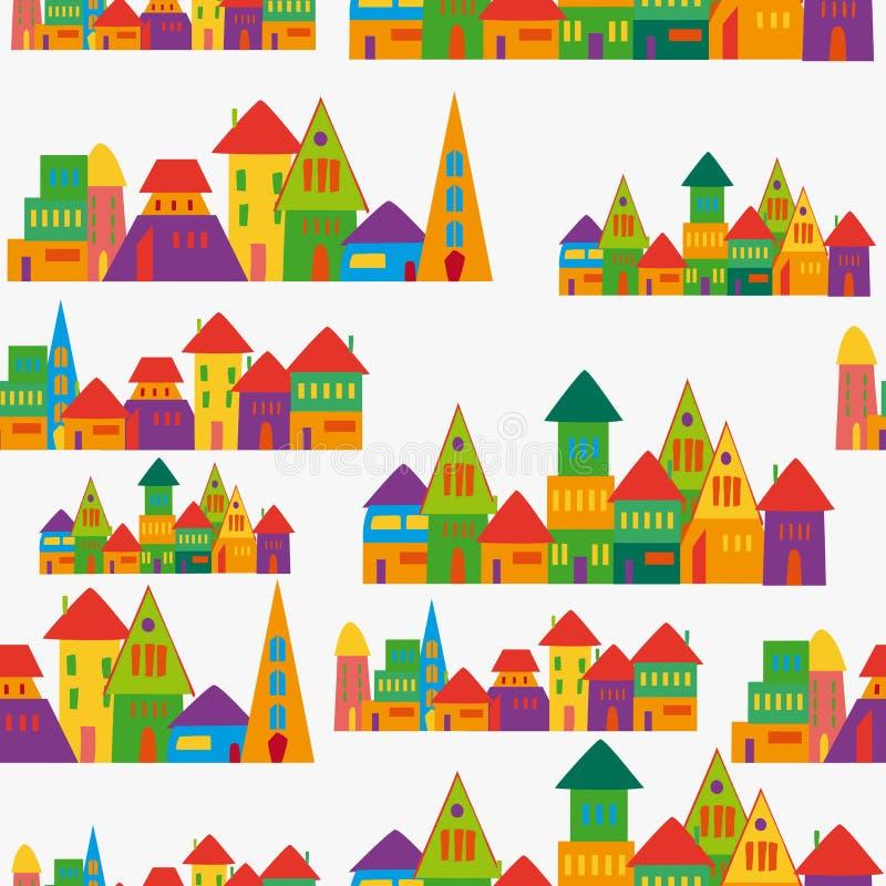 Modelo lindo de la ciudad ilustración del vector