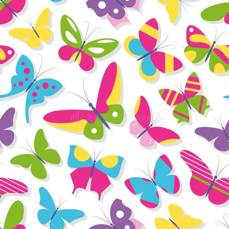 Modelo lindo de la colección de las mariposas libre illustration