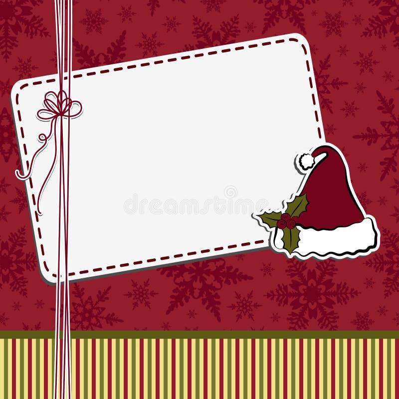 Modelo lindo de la postal de la Navidad stock de ilustración