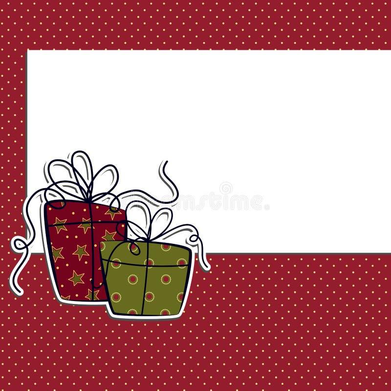 Modelo lindo de la postal de la Navidad ilustración del vector