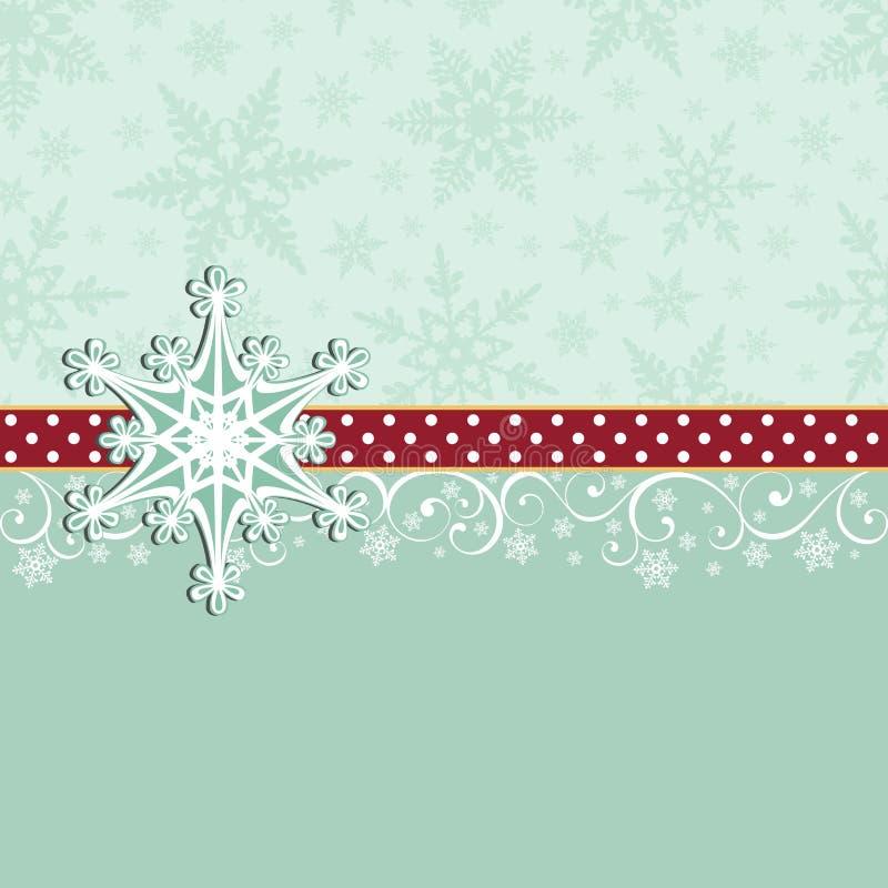 Modelo lindo de la postal del Año Nuevo de la Navidad ilustración del vector