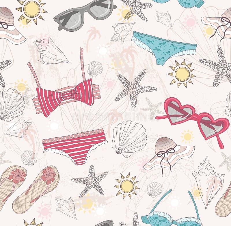 Modelo lindo del extracto del verano libre illustration