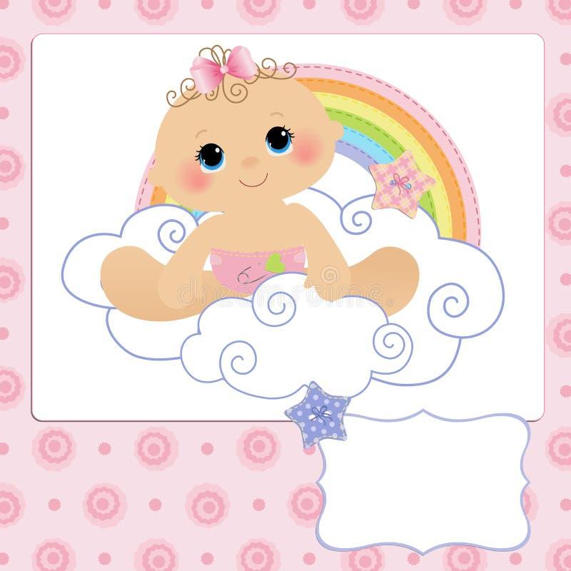 Modelo lindo para la postal del bebé libre illustration