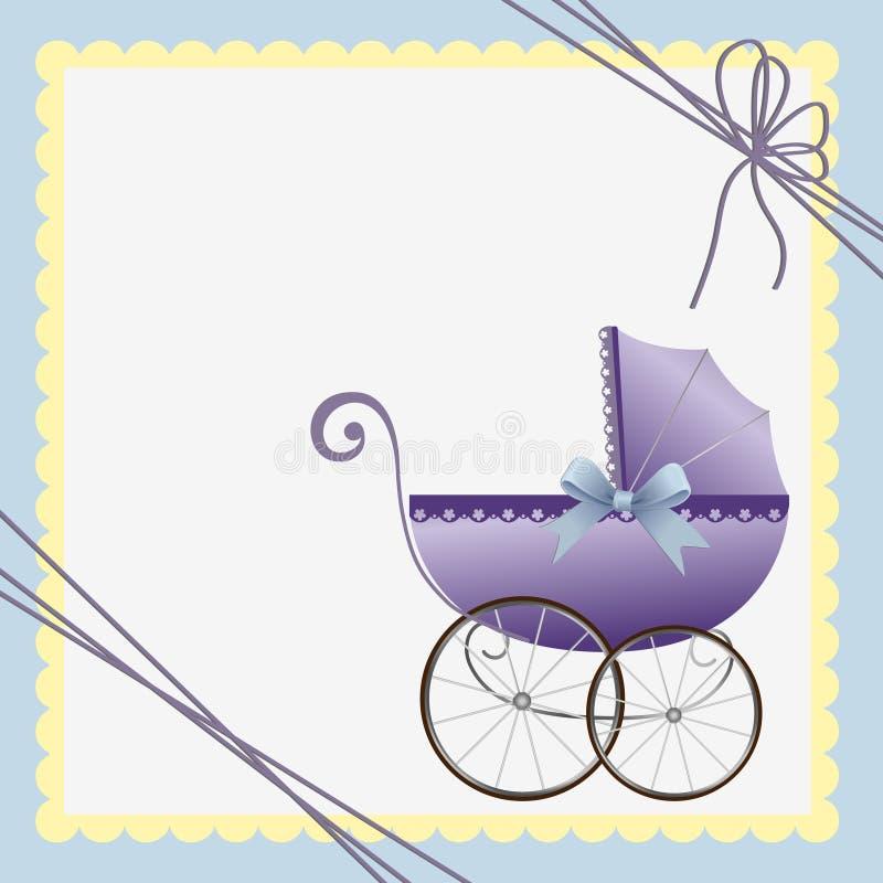 Modelo lindo para la tarjeta del bebé ilustración del vector