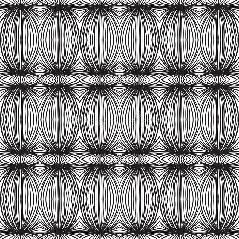 Modelo linear blanco y negro étnico ilustración del vector