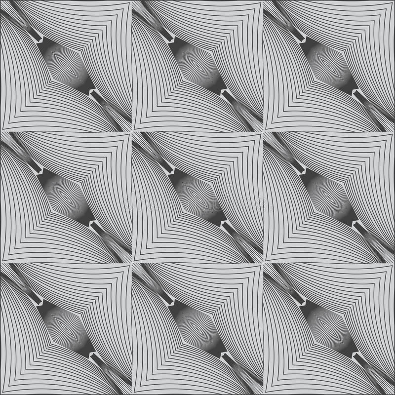 Modelo linear blanco y negro psicodélico libre illustration