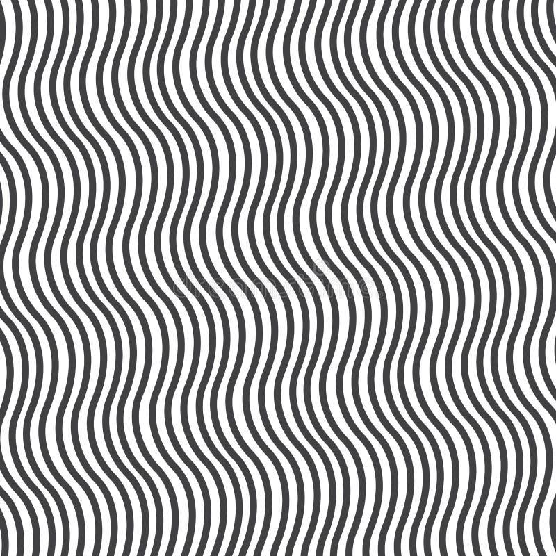 Modelo linear de la ondulación Repetici?n de textura del vector Fondo gr?fico ondulado Ondas lineares simples Modelo limpio para  stock de ilustración