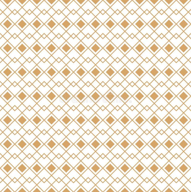 Modelo linear geométrico Vector Ornamento para la tela, el papel pintado y empaquetar Elemento decorativo para el proyecto del in stock de ilustración