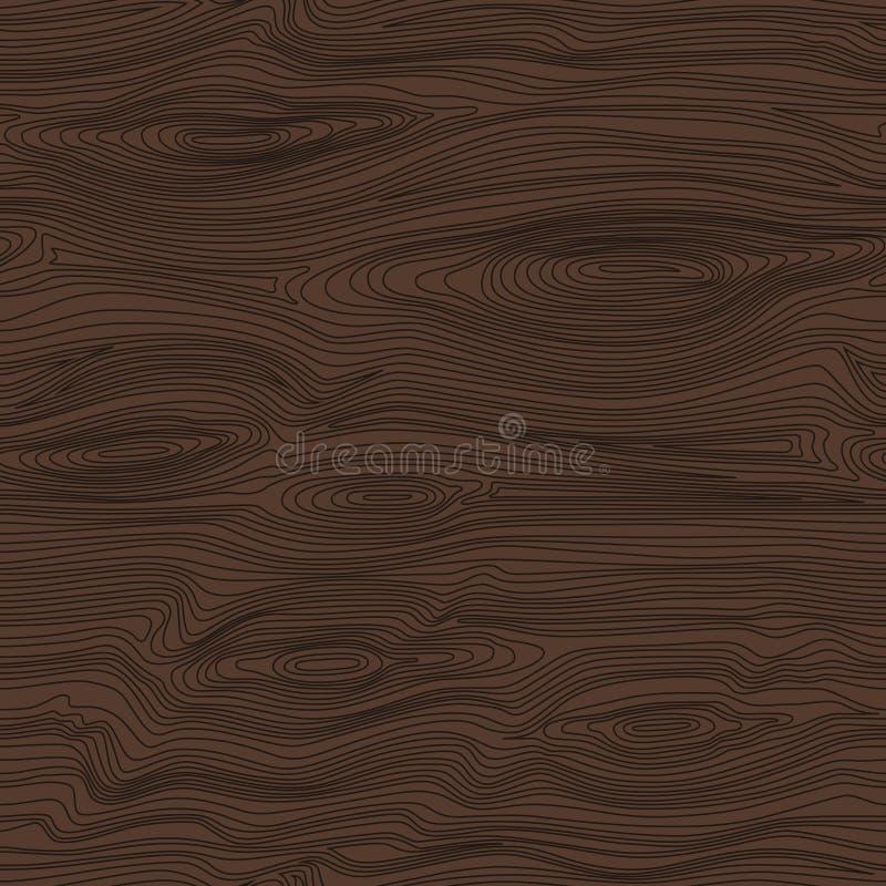 Modelo linear inconsútil con textura de madera oscura Fondo de madera libre illustration