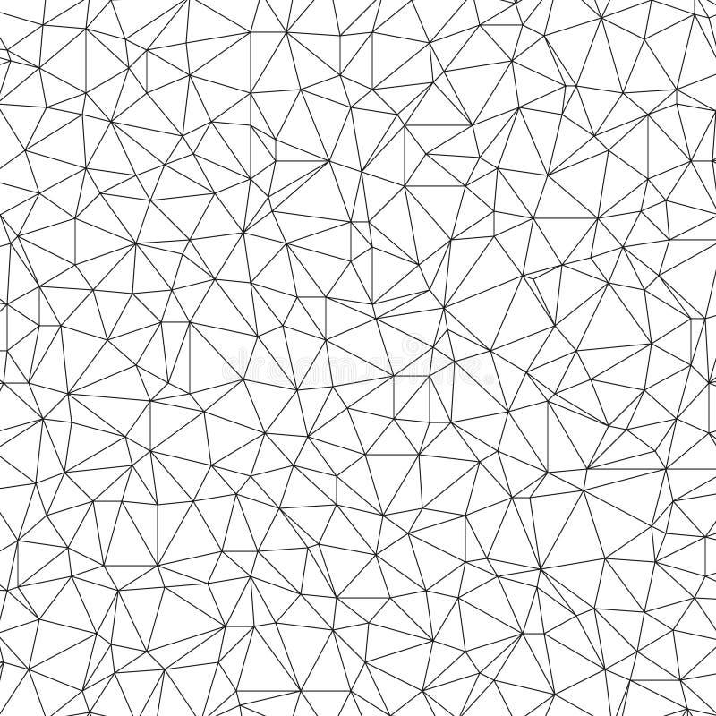 Modelo linear poligonal stock de ilustración
