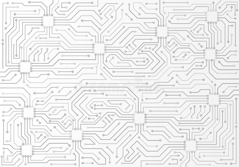 Modelo mínimo de la placa de circuito Ejemplo del vector de la ciencia libre illustration