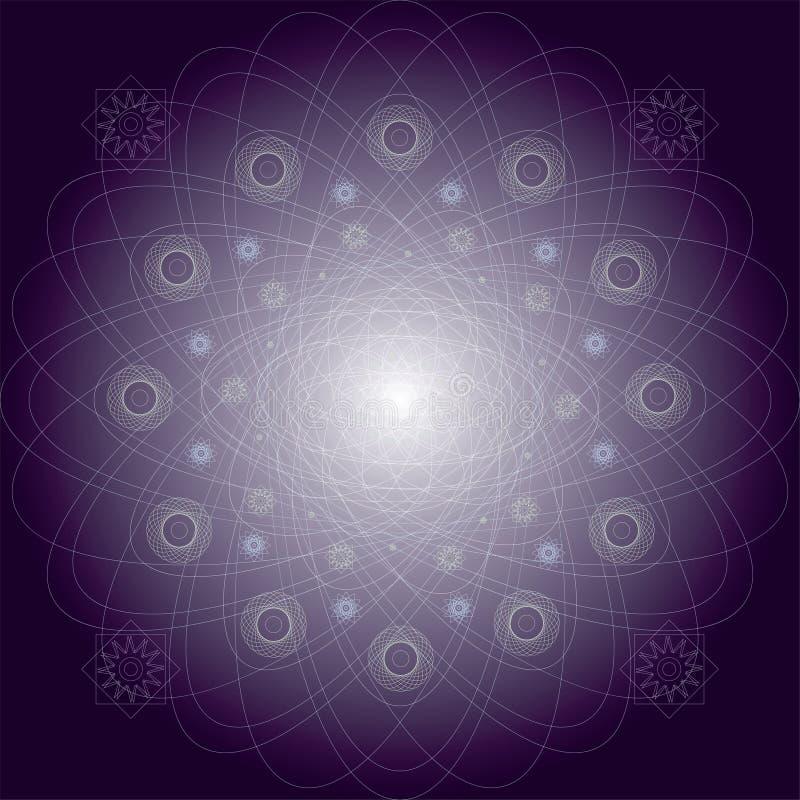 Modelo místico púrpura del ejemplo stock de ilustración