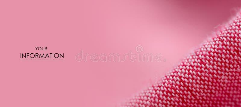 Modelo macro de la tela del paño del material de la materia textil rosada de la textura stock de ilustración