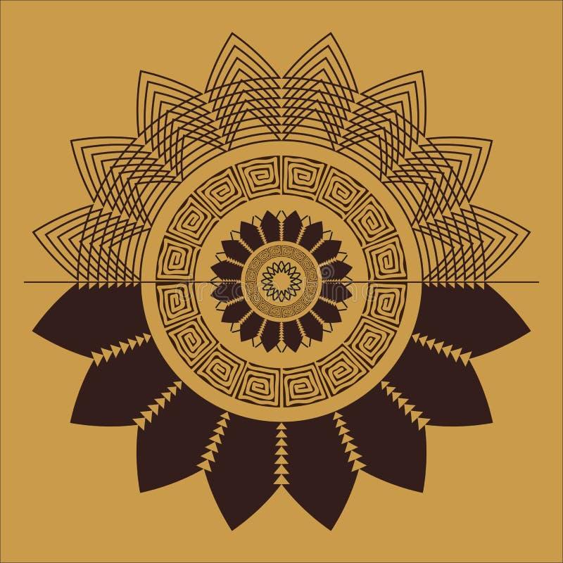 Modelo a mano abstracto del ethno, fondo tribal imágenes de archivo libres de regalías