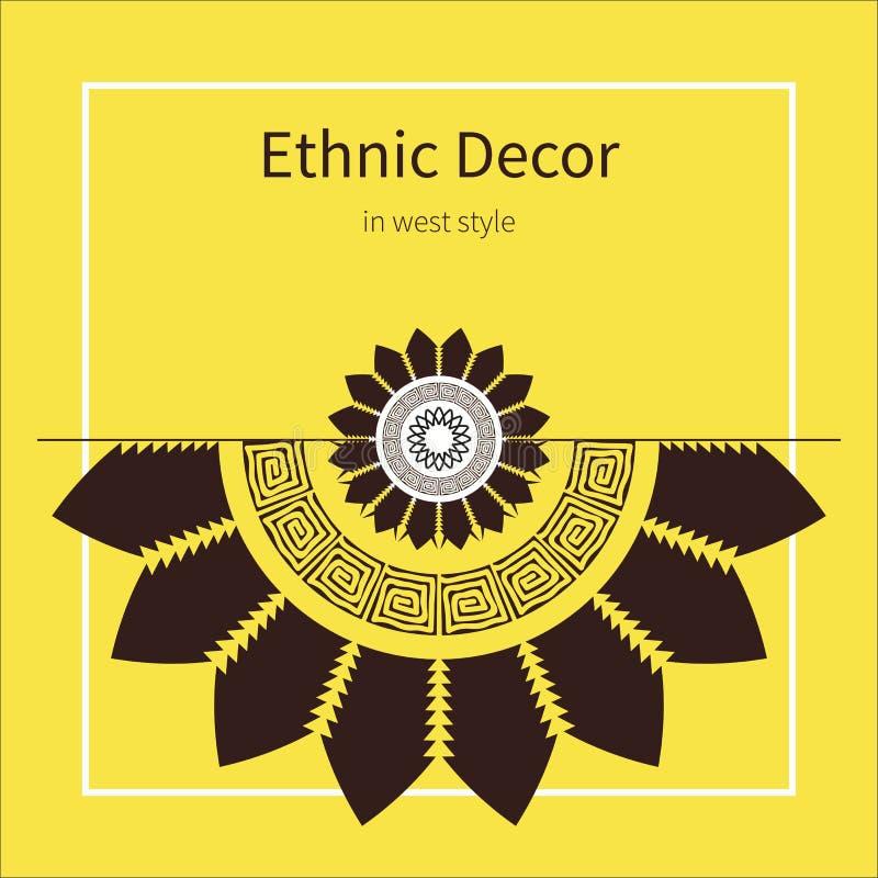 Modelo a mano abstracto del ethno, fondo tribal imagen de archivo