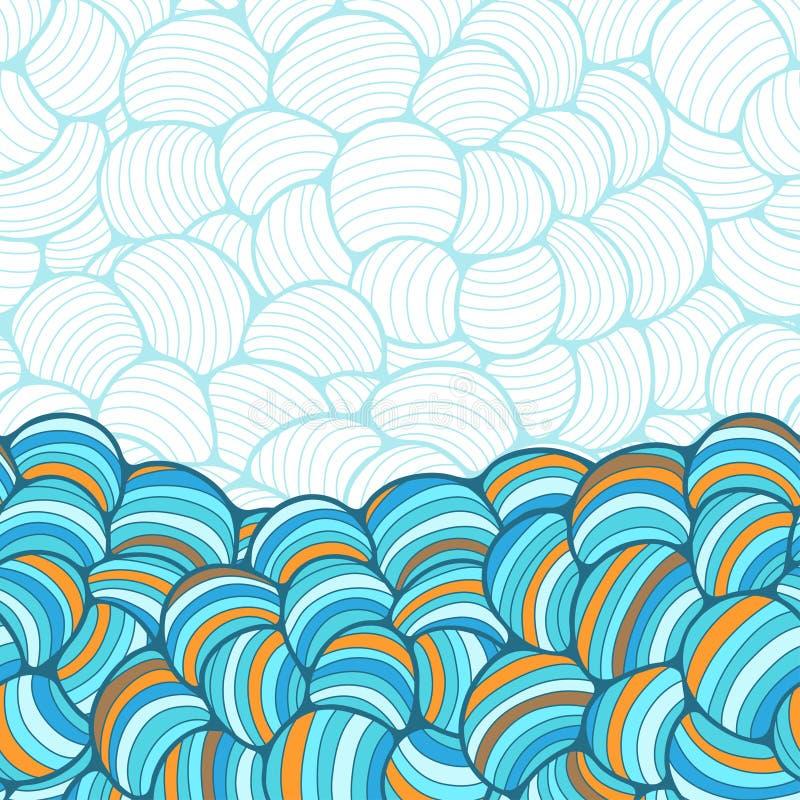 Modelo a mano de la onda abstracta inconsútil libre illustration