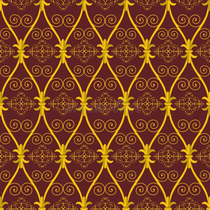 Modelo marrón abstracto inconsútil de Oriente stock de ilustración