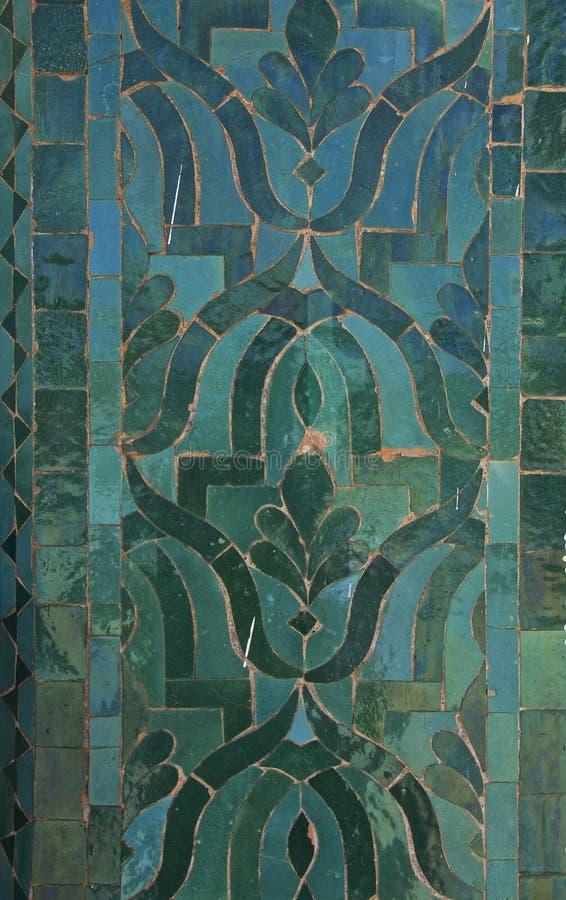 Modelo marroquí de la teja imagen de archivo
