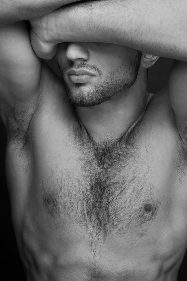Modelo masculino fotografia de stock
