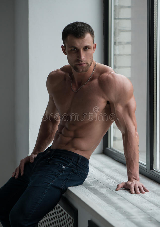 Modelo masculino fotografia de stock royalty free