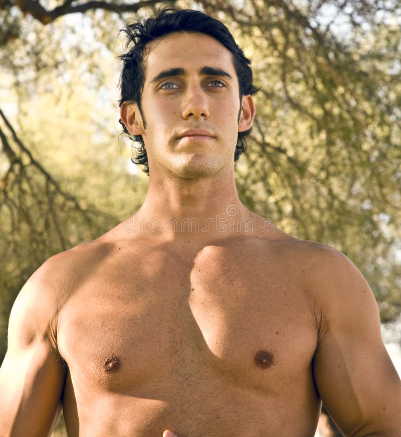 Modelo masculino apto foto de stock royalty free