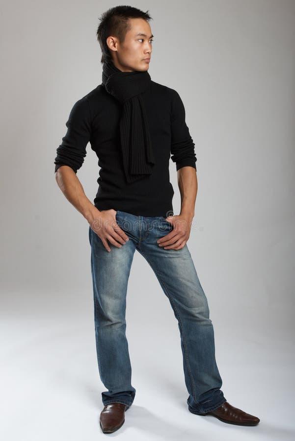 Modelo masculino asiático joven imagen de archivo