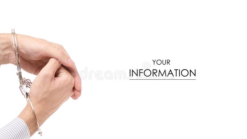 Modelo masculino de los puños de la mano fotografía de archivo