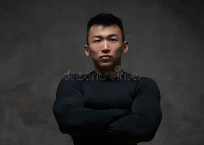 Modelo masculino desportivo foto de stock royalty free