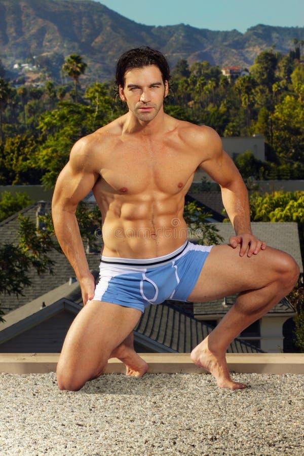 Modelo masculino do roupa interior foto de stock royalty free