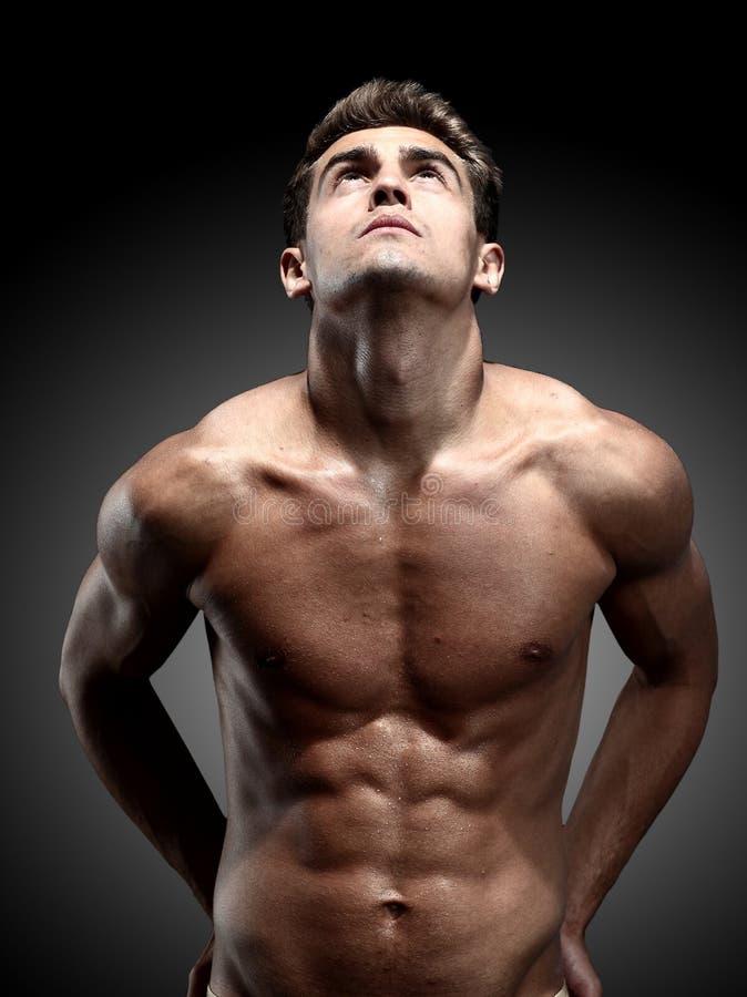 Modelo masculino joven fotografía de archivo