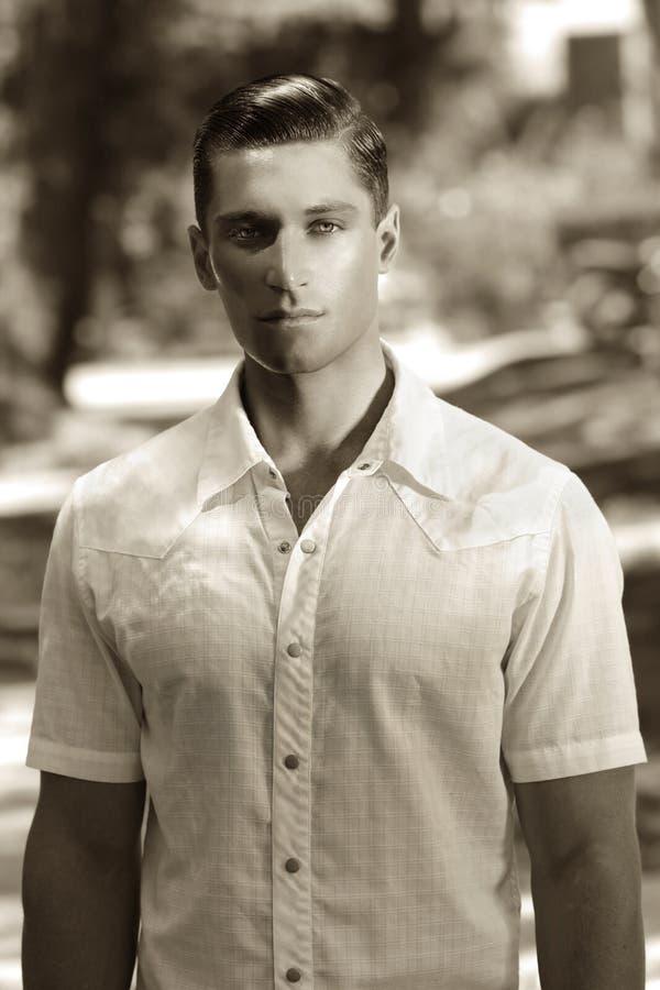 Modelo masculino joven fotos de archivo