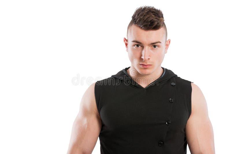Modelo masculino joven y apto imágenes de archivo libres de regalías