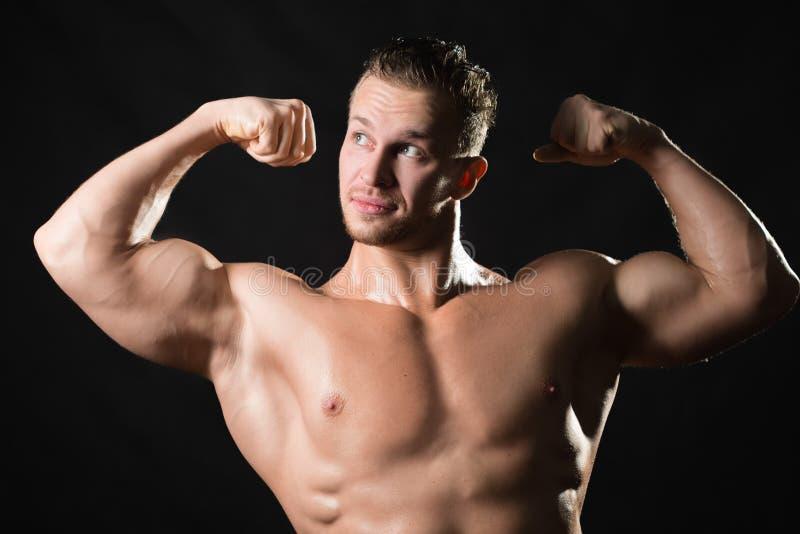Modelo masculino Muscled imagem de stock